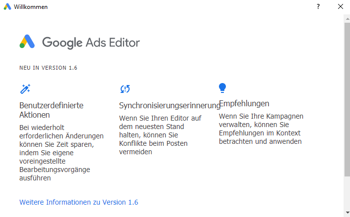 Google Ads Editor Update